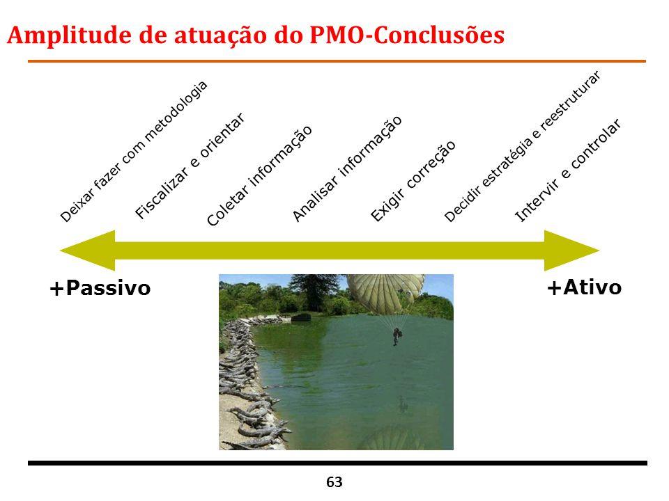 Amplitude de atuação do PMO-Conclusões