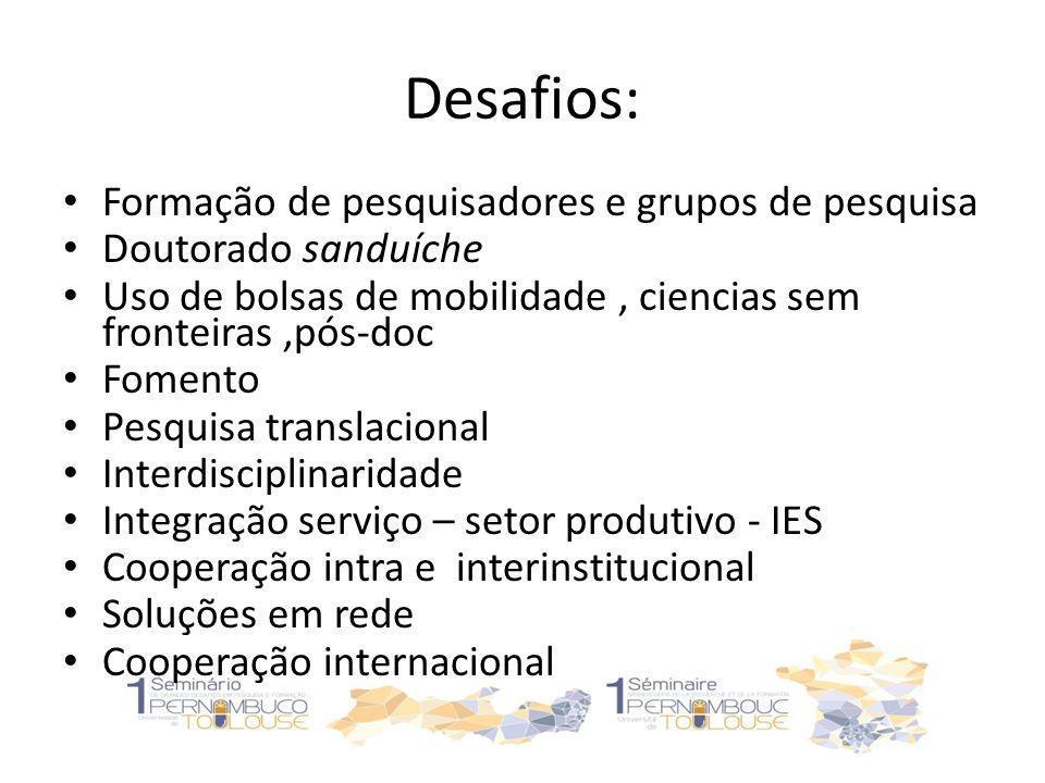 Desafios: Formação de pesquisadores e grupos de pesquisa