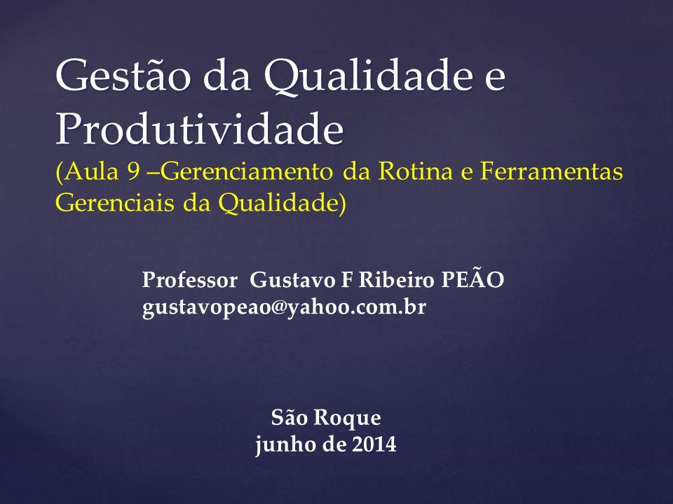 Gestão da Qualidade e Produtividade (Aula 9 –Gerenciamento da Rotina e Ferramentas Gerenciais da Qualidade)