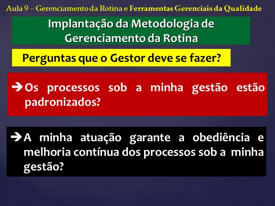 Implantação da Metodologia de Gerenciamento da Rotina