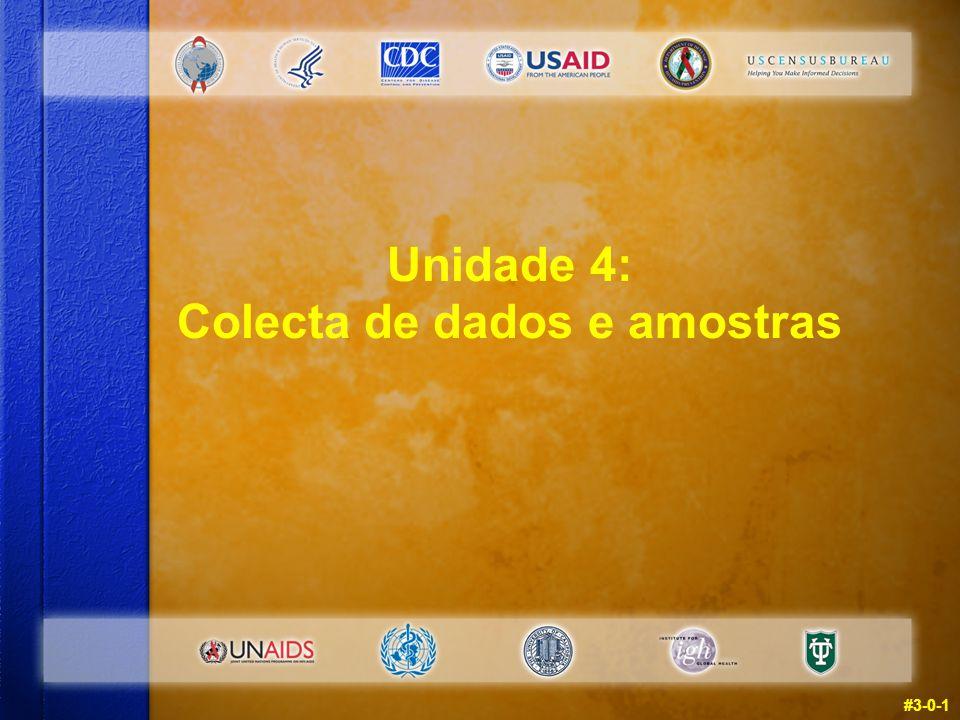 Unidade 4: Colecta de dados e amostras