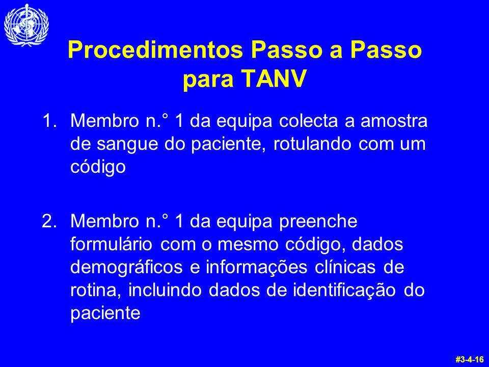 Procedimentos Passo a Passo para TANV