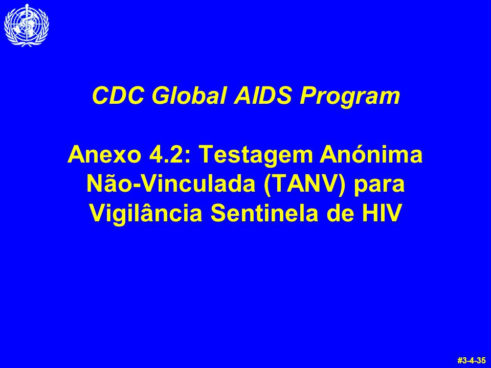 CDC Global AIDS Program Anexo 4