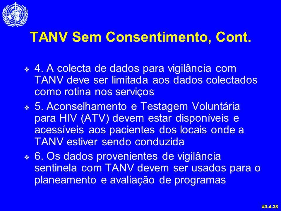 TANV Sem Consentimento, Cont.