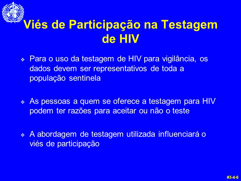 Viés de Participação na Testagem de HIV