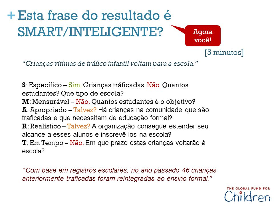 Esta frase do resultado é SMART/INTELIGENTE