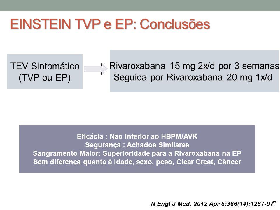 EINSTEIN TVP e EP: Conclusões