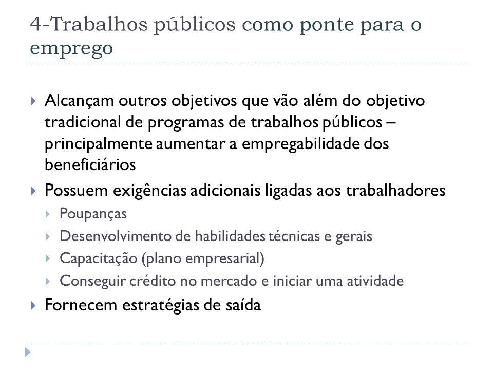 4-Trabalhos públicos como ponte para o emprego