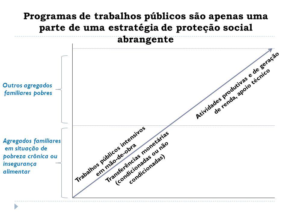 Programas de trabalhos públicos são apenas uma parte de uma estratégia de proteção social abrangente
