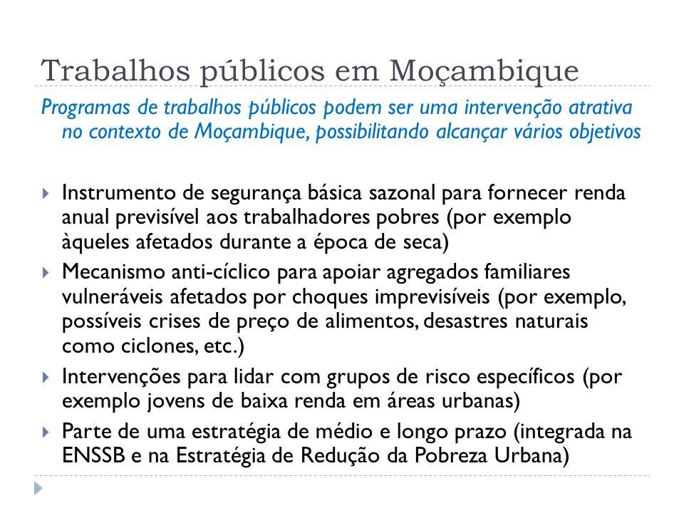 Trabalhos públicos em Moçambique