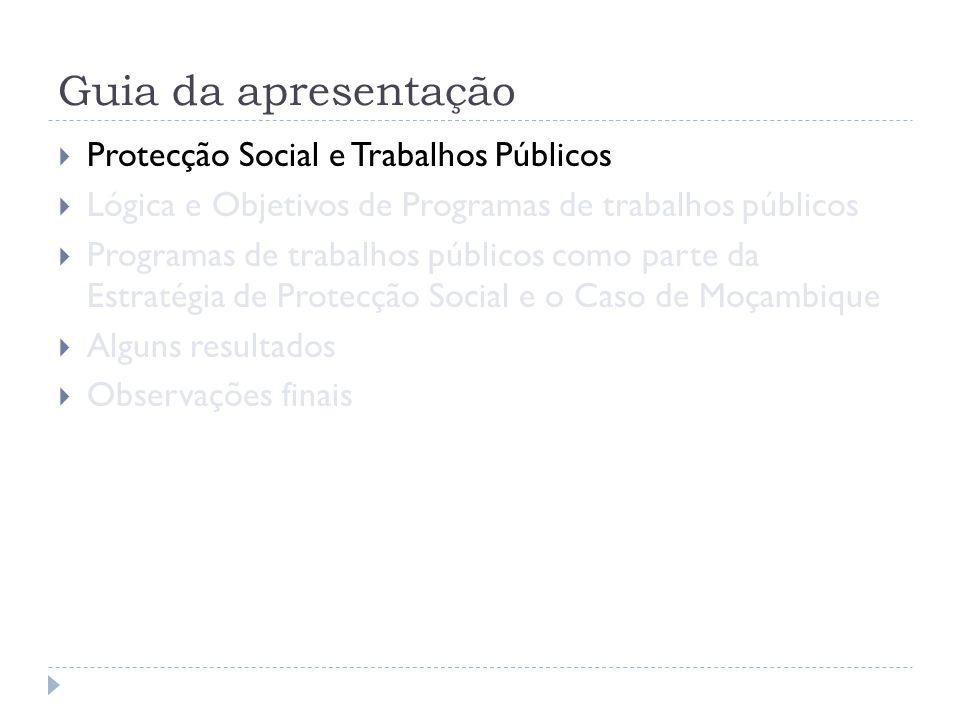 Guia da apresentação Protecção Social e Trabalhos Públicos