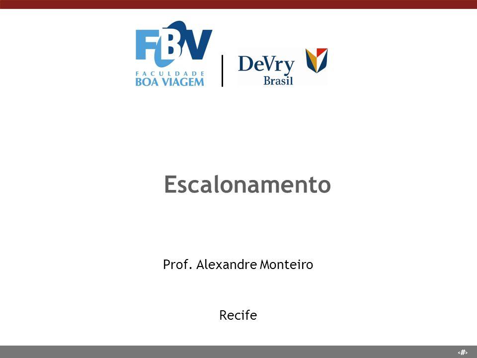 Prof. Alexandre Monteiro Recife