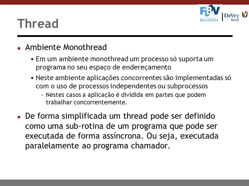 Thread Ambiente Monothread