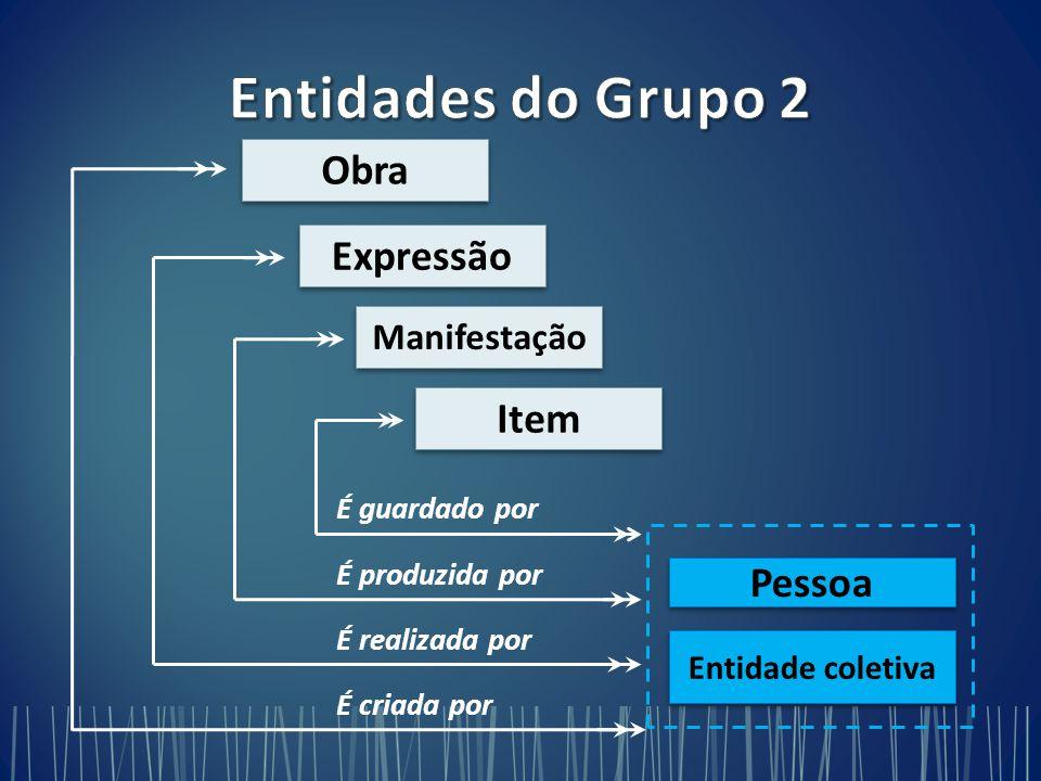 Entidades do Grupo 2 Obra Expressão Item Pessoa Manifestação