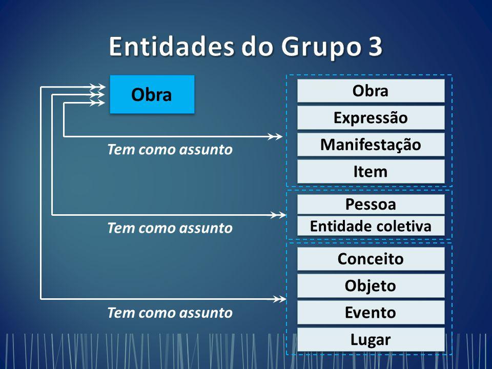 Entidades do Grupo 3 Obra Obra Expressão Manifestação Item Pessoa