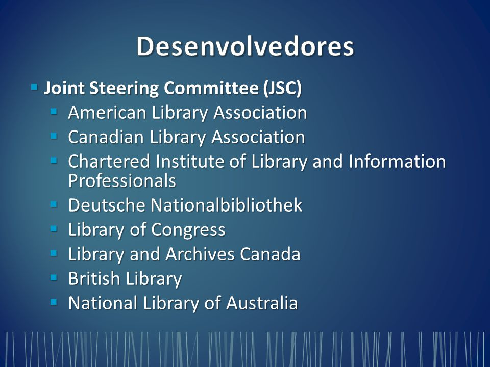 Desenvolvedores Joint Steering Committee (JSC)