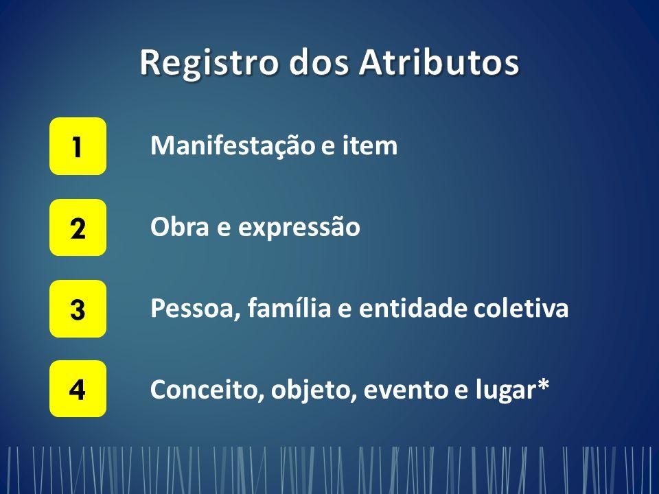 Registro dos Atributos