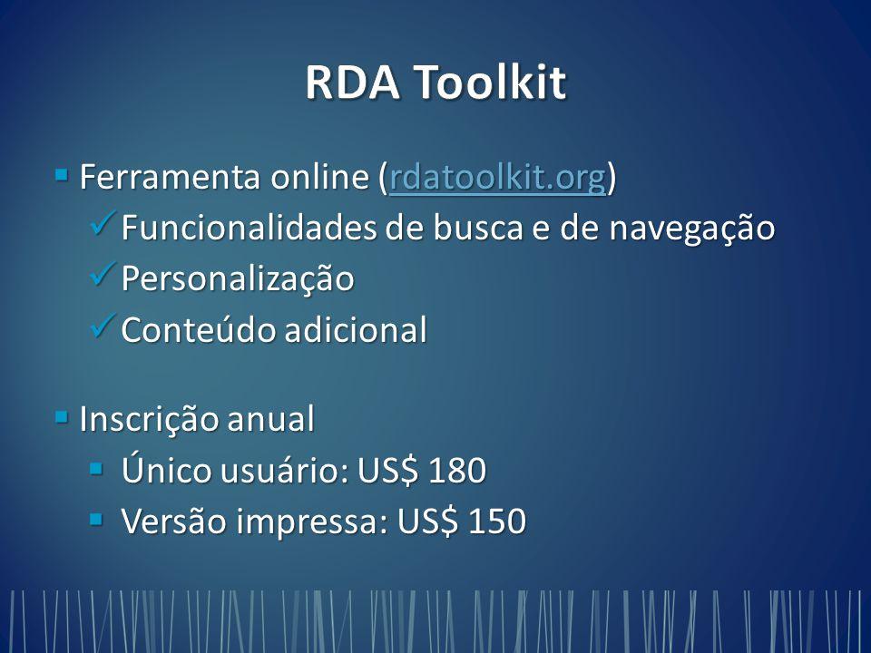 RDA Toolkit Ferramenta online (rdatoolkit.org)