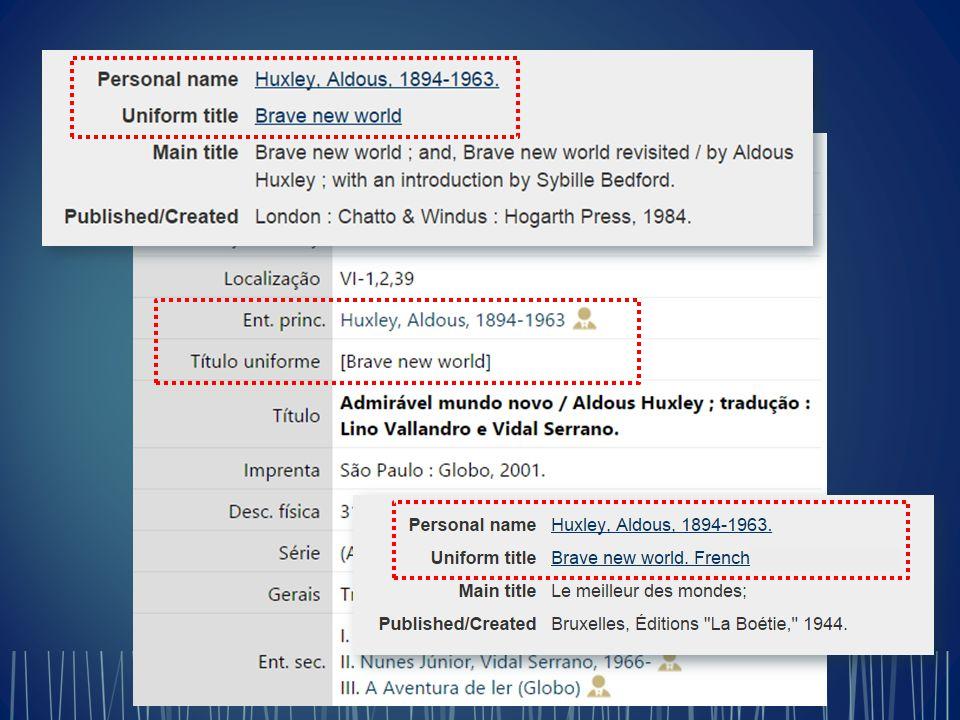 Registro bibliográfico atual