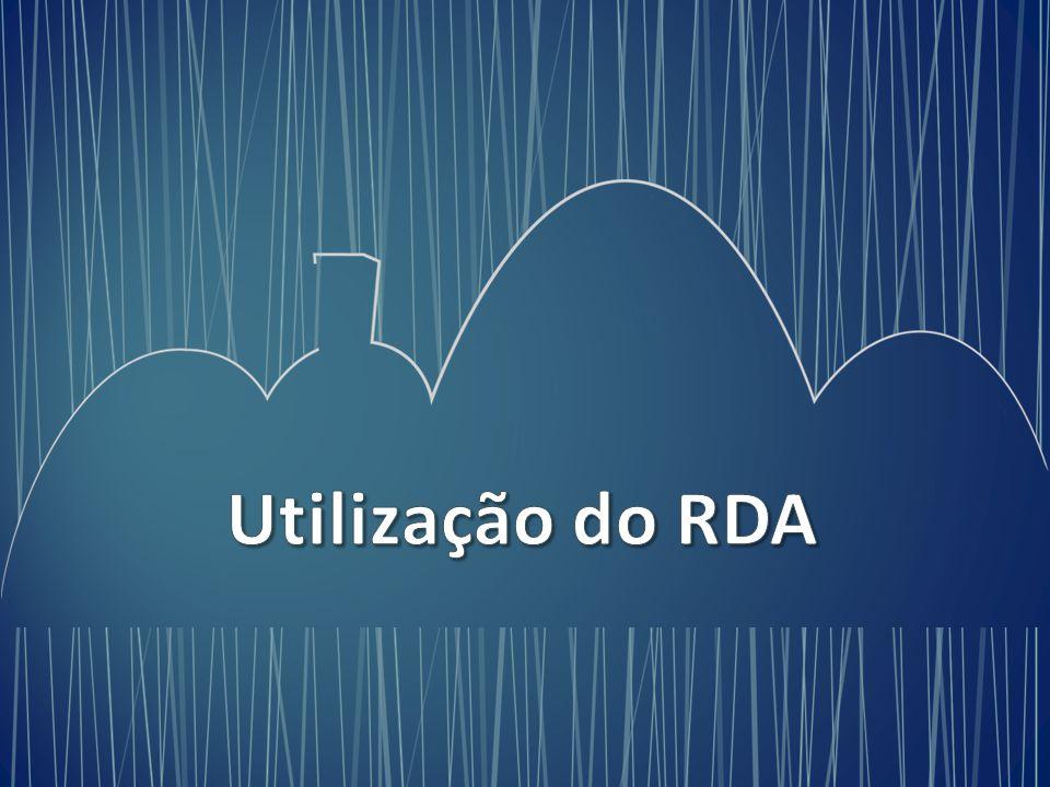 Utilização do RDA