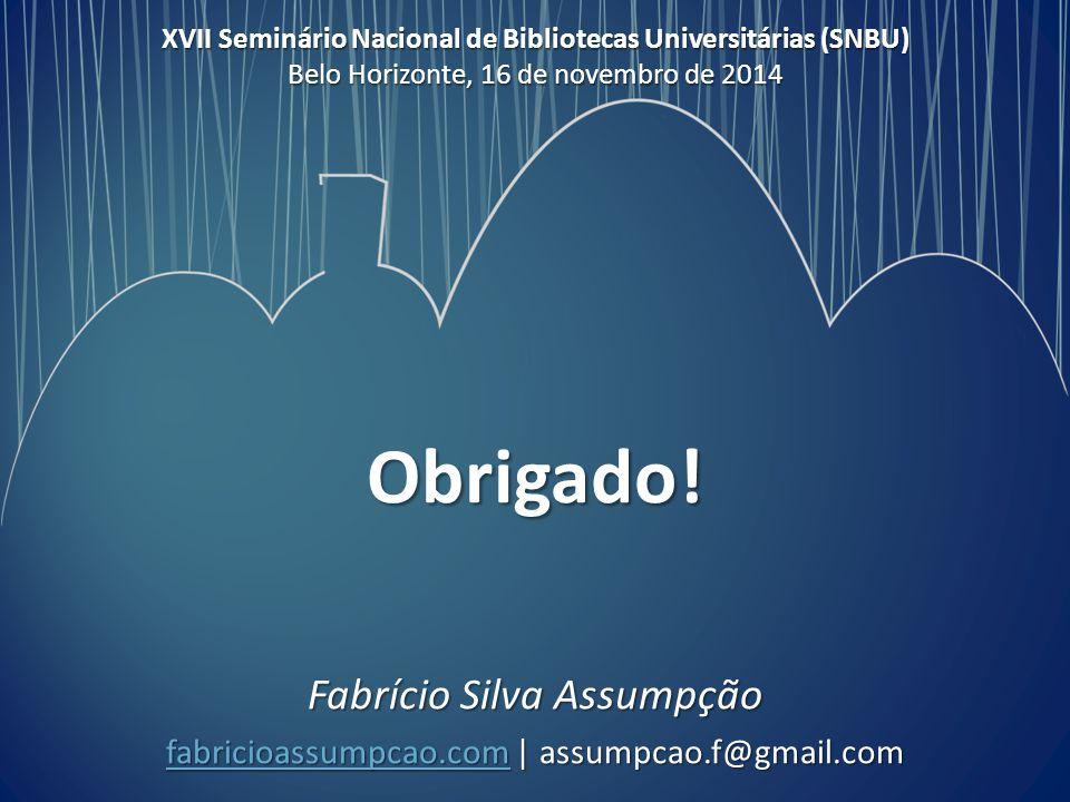 Fabrício Silva Assumpção fabricioassumpcao.com | assumpcao.f@gmail.com