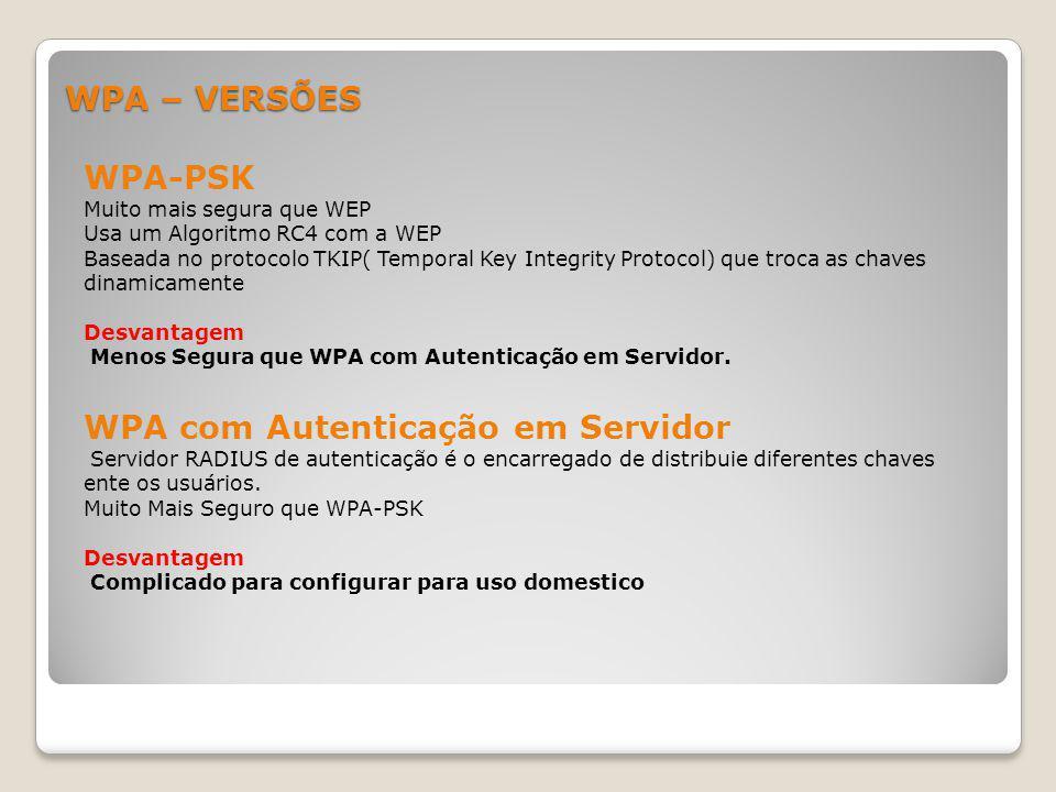 WPA com Autenticação em Servidor