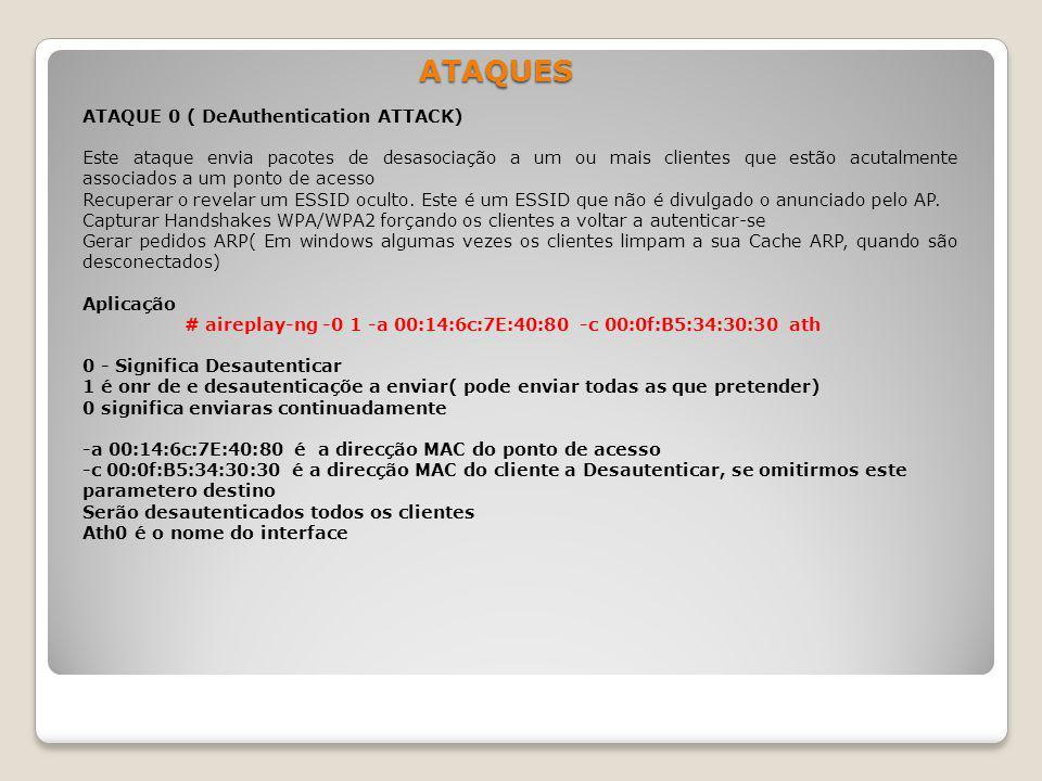 ATAQUES ATAQUE 0 ( DeAuthentication ATTACK)