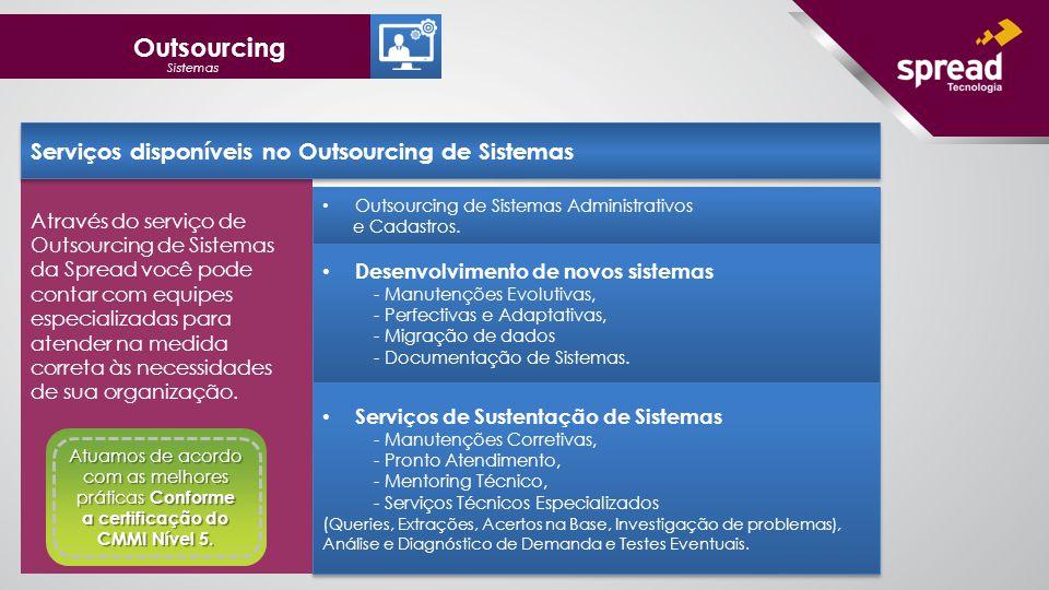 Outsourcing Serviços disponíveis no Outsourcing de Sistemas