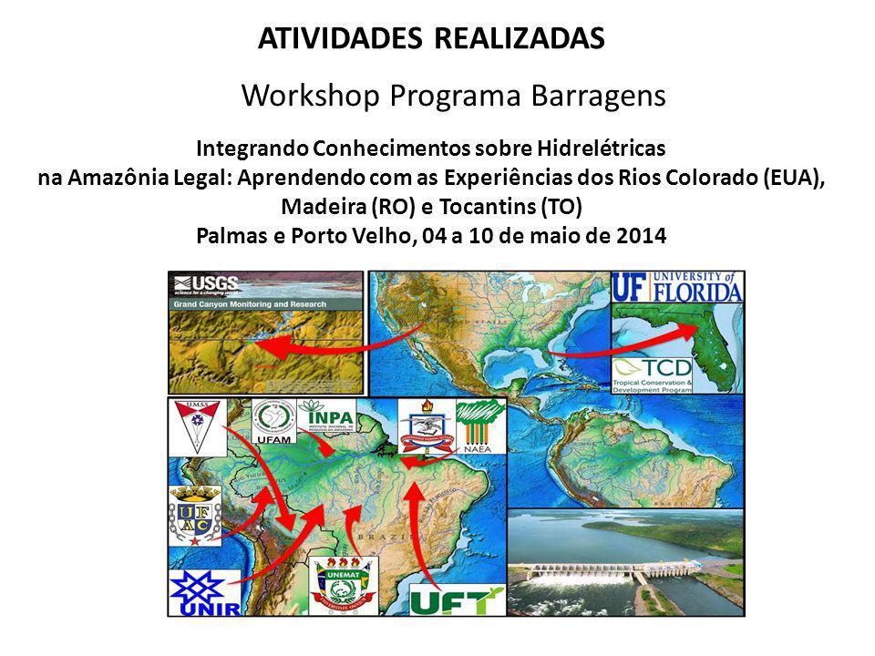 ATIVIDADES REALIZADAS Palmas e Porto Velho, 04 a 10 de maio de 2014