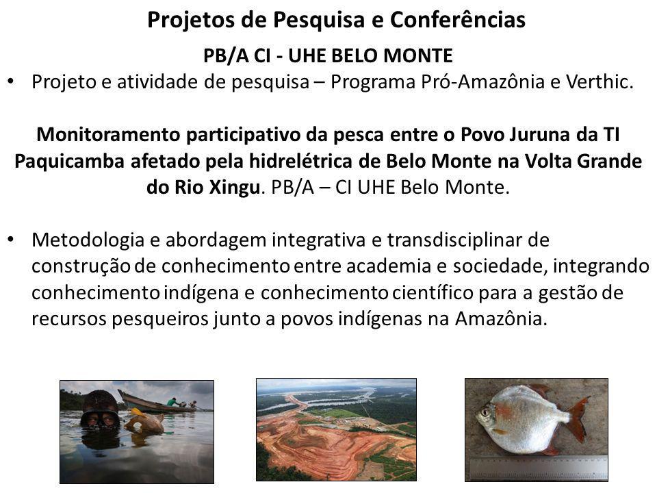 Projetos de Pesquisa e Conferências