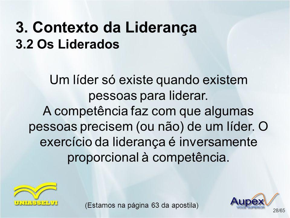 3. Contexto da Liderança 3.2 Os Liderados