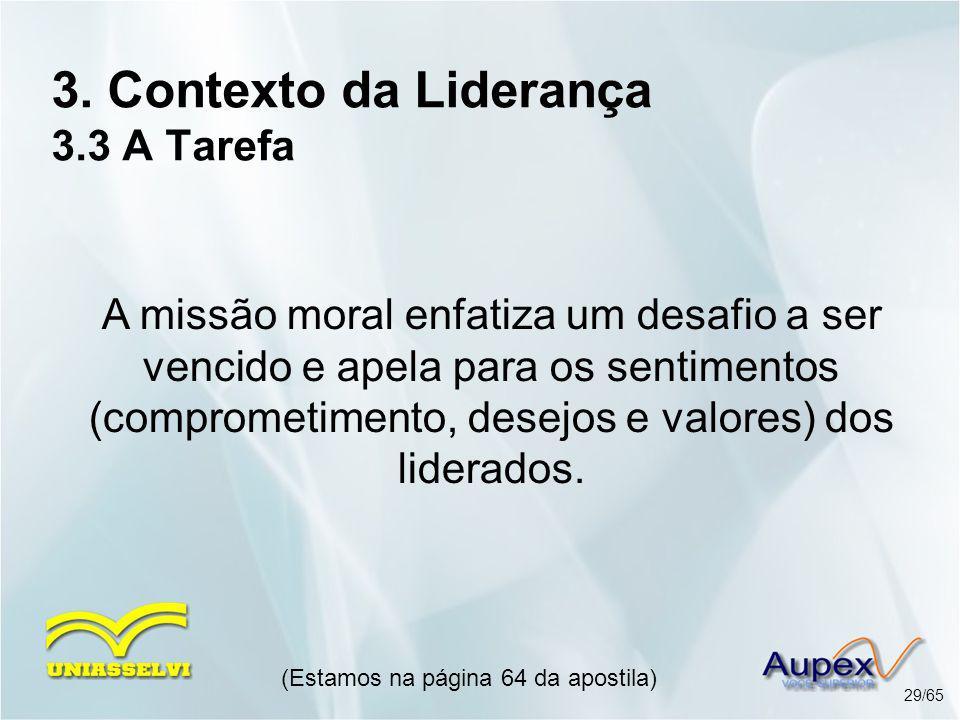 3. Contexto da Liderança 3.3 A Tarefa
