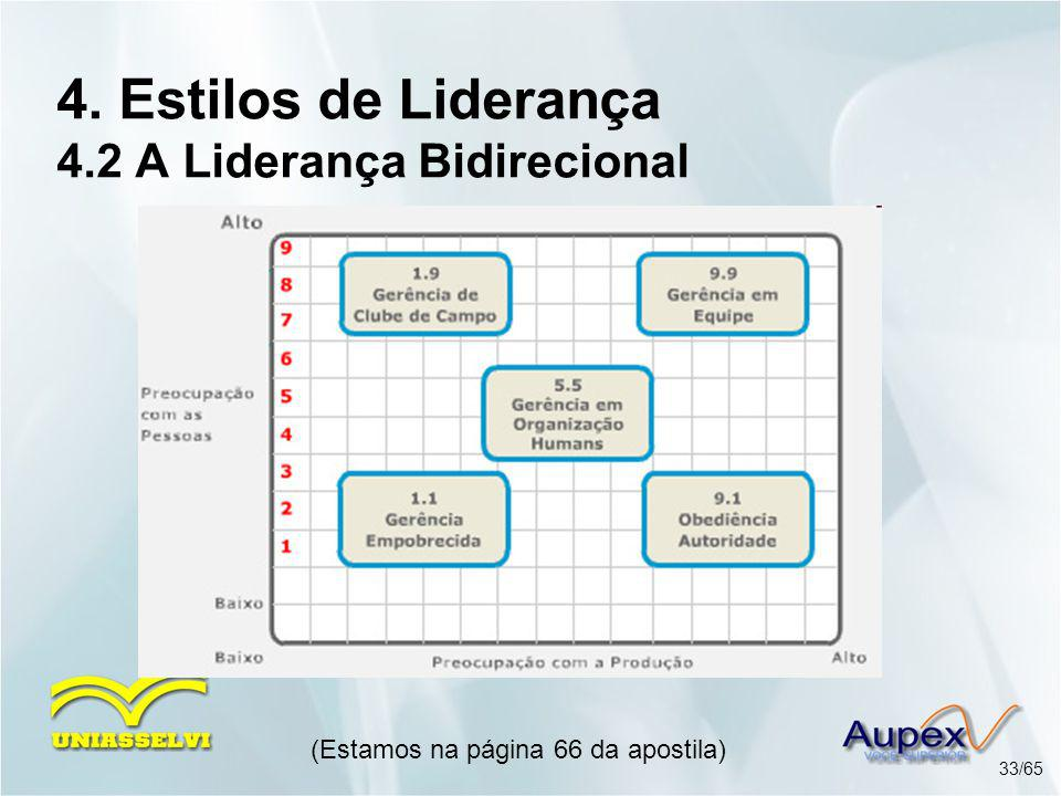 4. Estilos de Liderança 4.2 A Liderança Bidirecional
