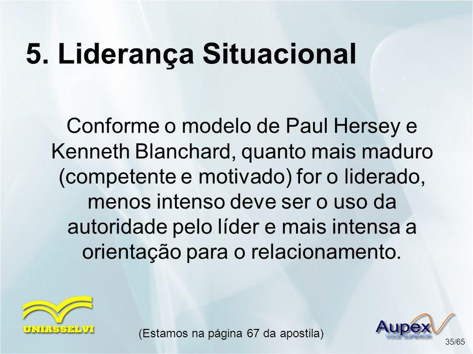 5. Liderança Situacional
