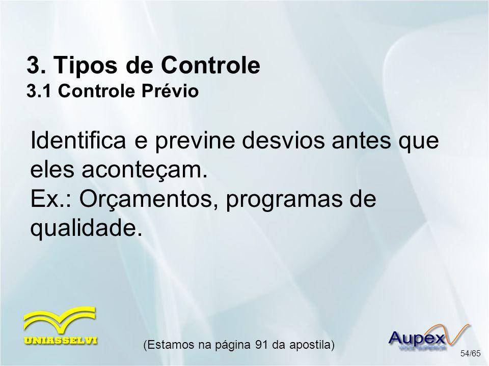 3. Tipos de Controle 3.1 Controle Prévio