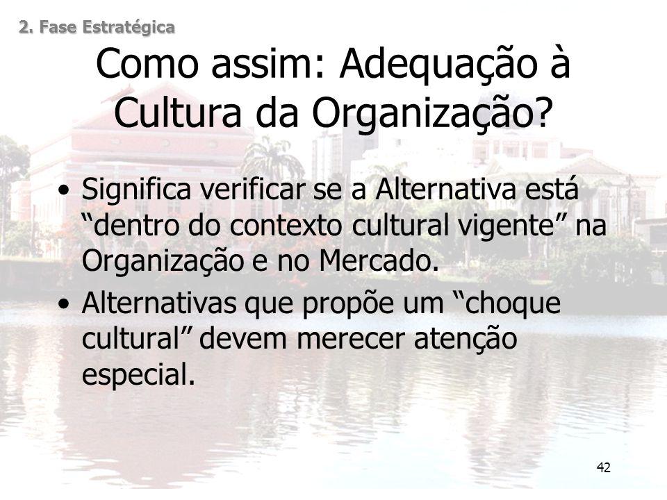 Como assim: Adequação à Cultura da Organização