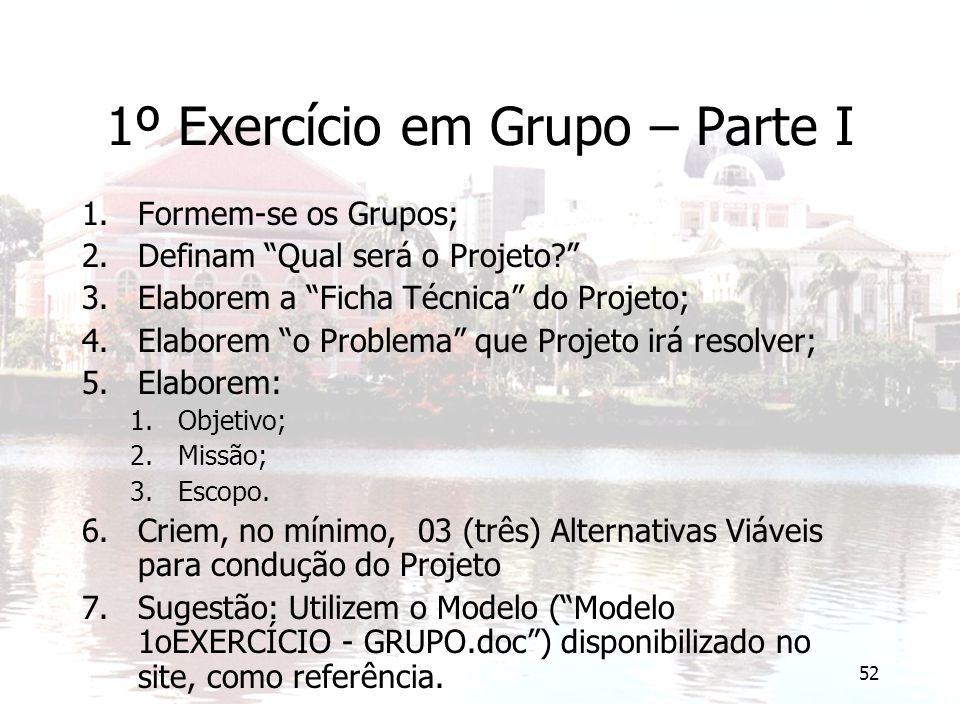 1º Exercício em Grupo – Parte I