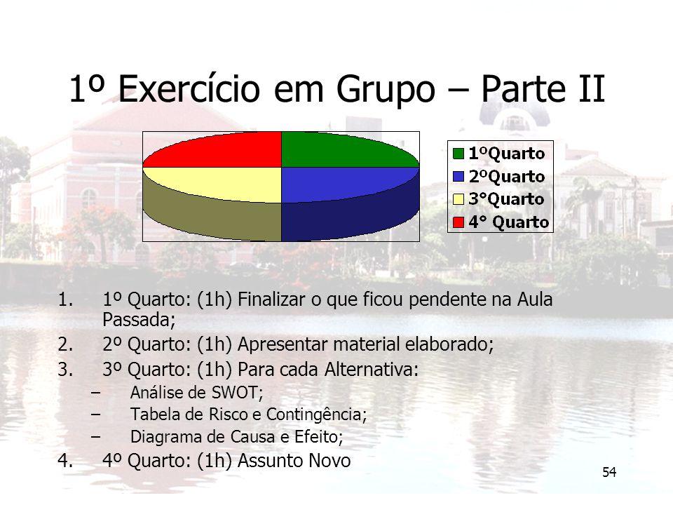 1º Exercício em Grupo – Parte II