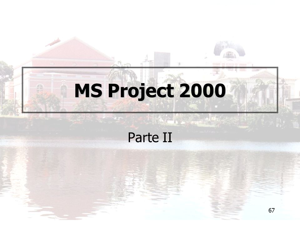 MS Project 2000 Parte II
