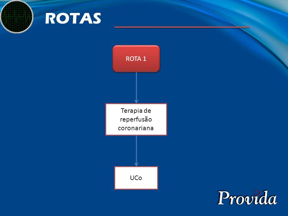 ROTAS ROTA 1 Terapia de reperfusão coronariana UCo