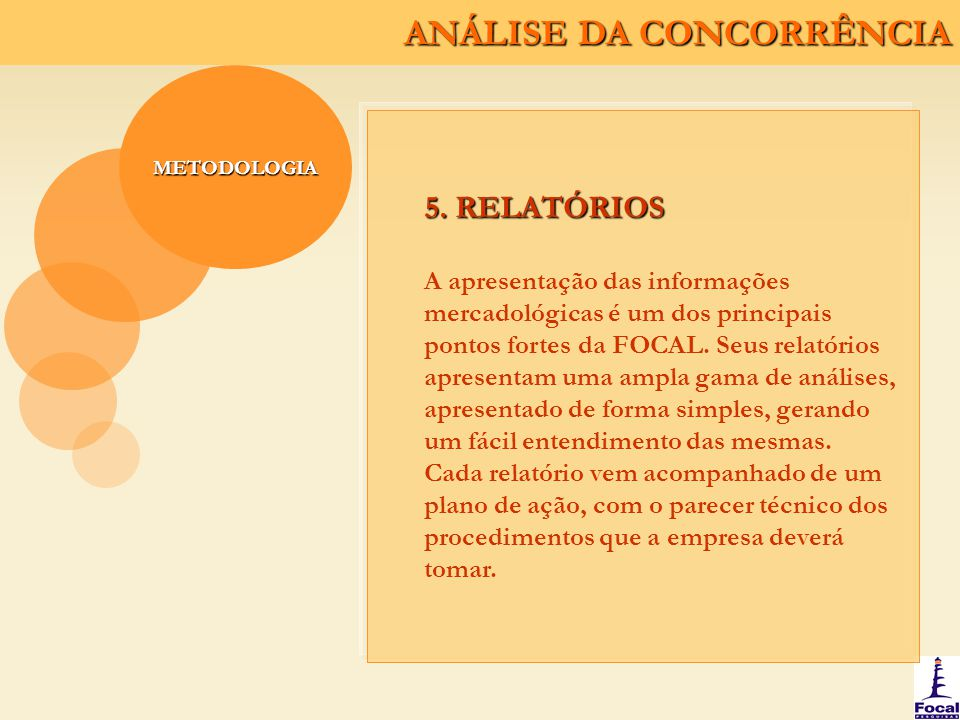 METODOLOGIA 5. RELATÓRIOS.
