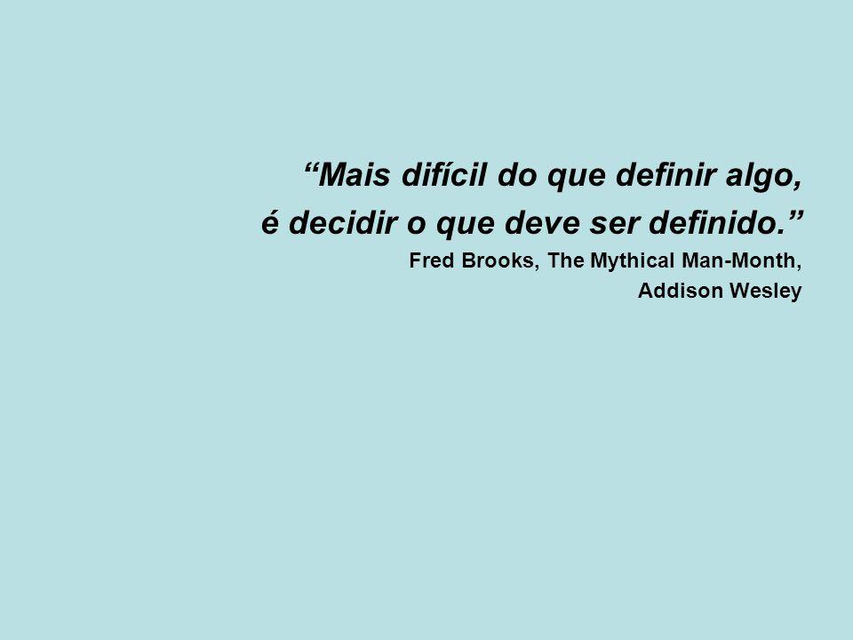 Mais difícil do que definir algo, é decidir o que deve ser definido.