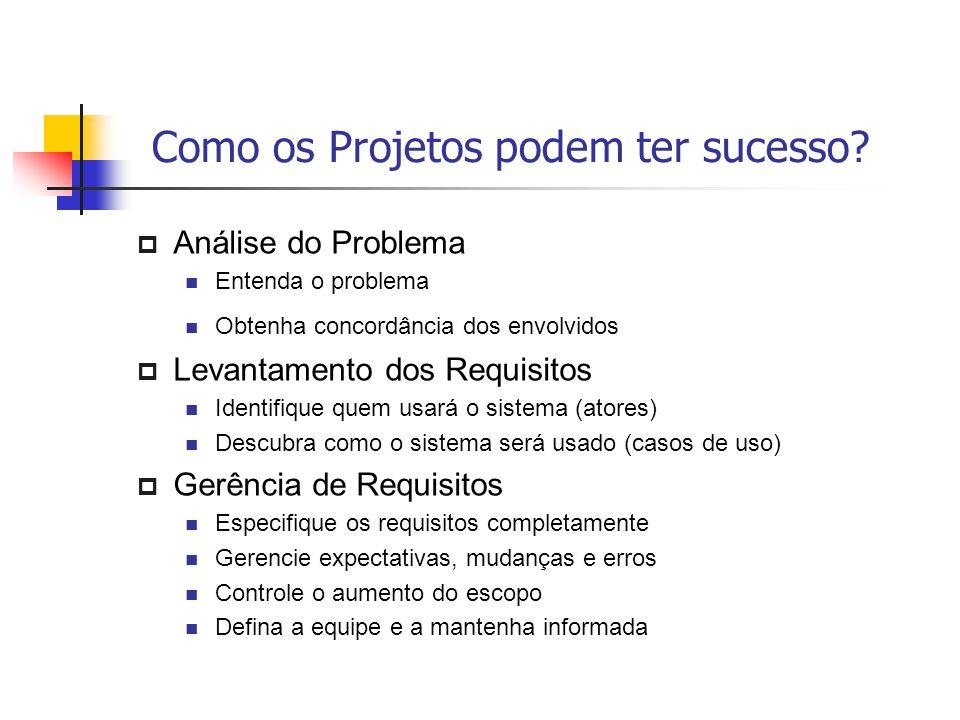 Como os Projetos podem ter sucesso