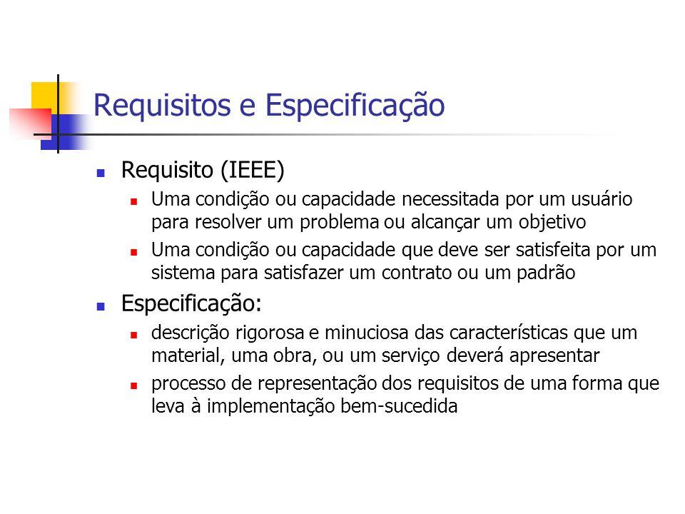 Requisitos e Especificação
