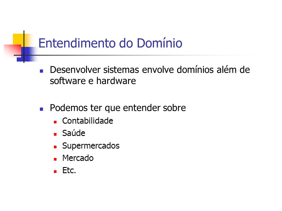 Entendimento do Domínio