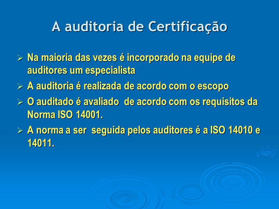 A auditoria de Certificação