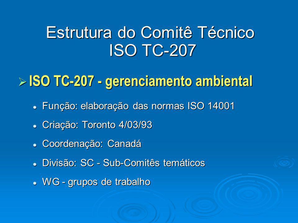 Estrutura do Comitê Técnico ISO TC-207