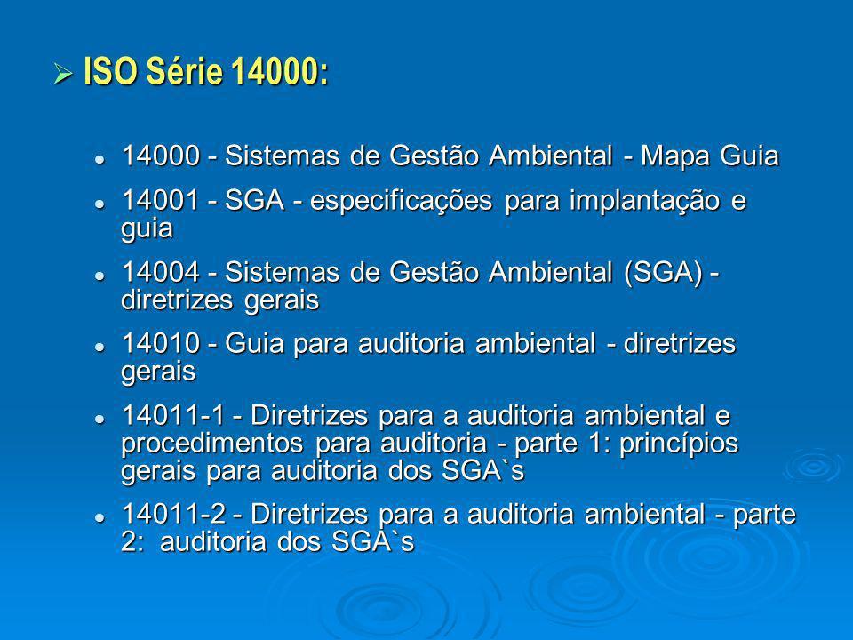 ISO Série 14000: 14000 - Sistemas de Gestão Ambiental - Mapa Guia