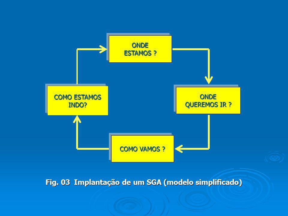 Fig. 03 Implantação de um SGA (modelo simplificado)