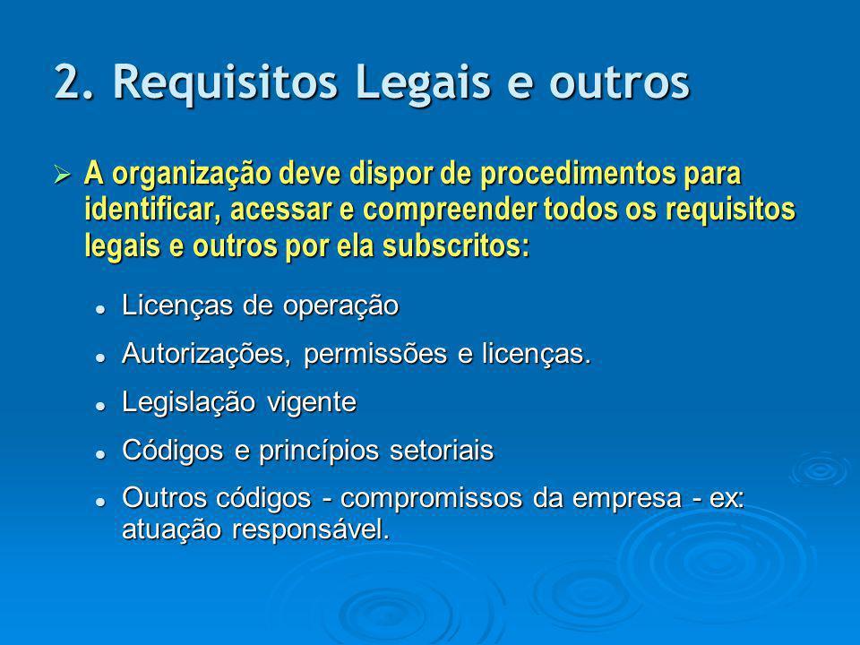 2. Requisitos Legais e outros